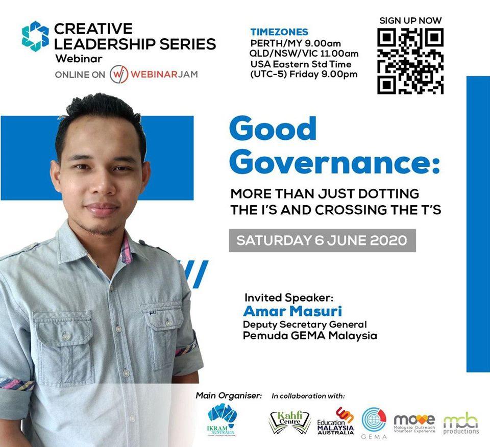 Creative Leadership Series: Good Governance